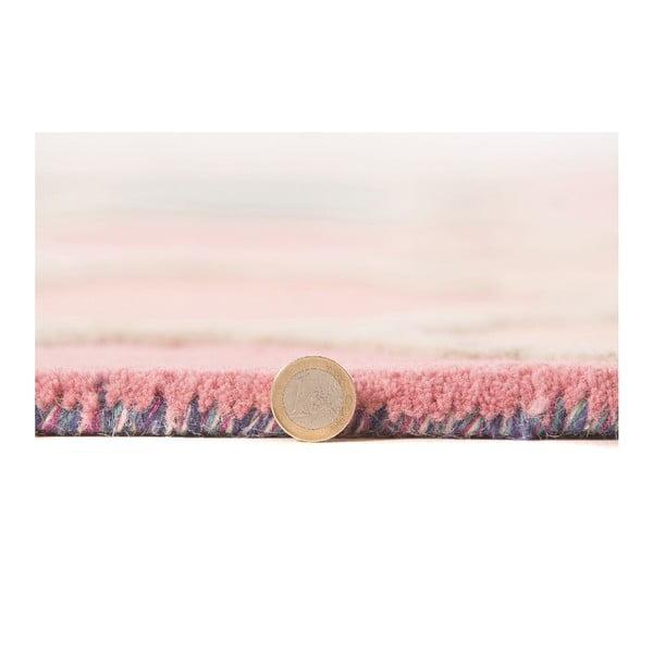 Modro-ružový vlnený koberec Flair Rugs Rosella, 160x230cm