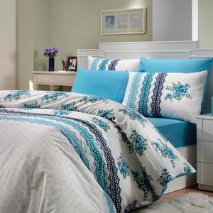 Obliečky s plachtou Camila Blue, 200x220 cm