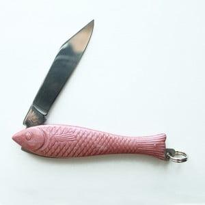 Ružový český nožík rybička