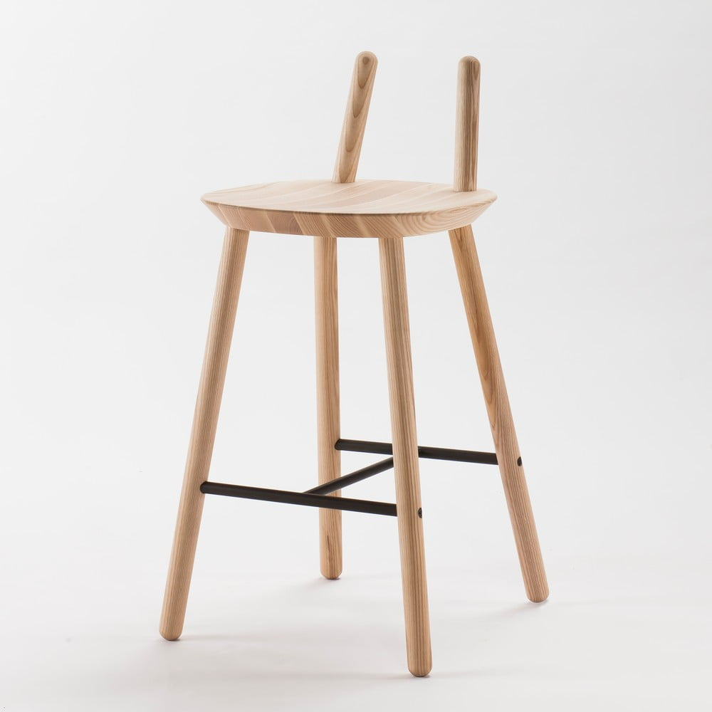d3b0de50dce5 Prírodná barová stolička z masívu EMKO Naïve