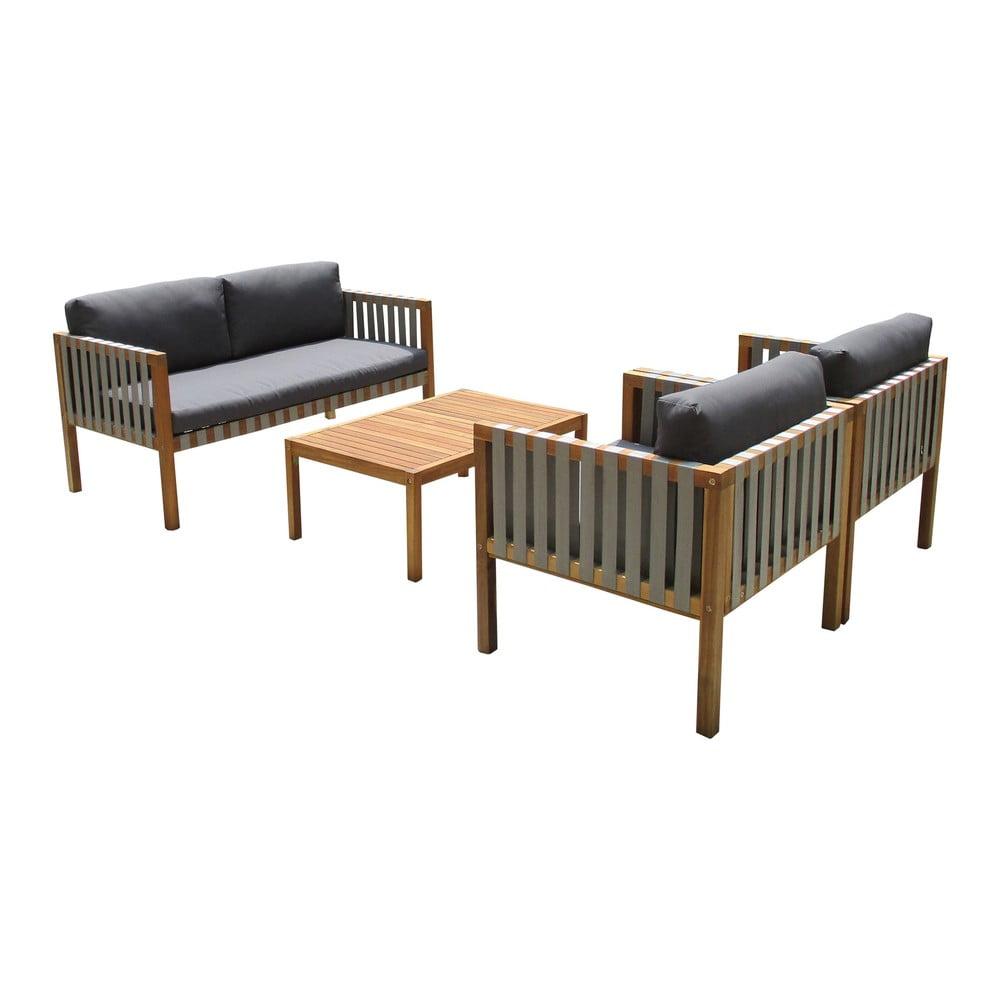 Sada záhradného nábytku z exotického dreva Ezeis Galupe