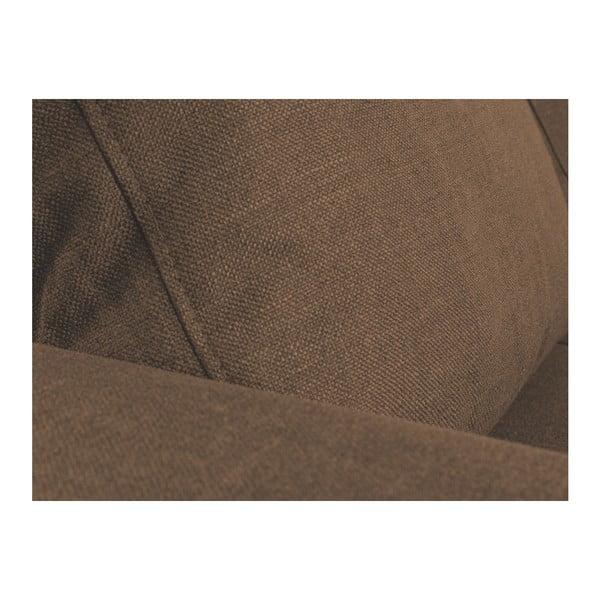 Hnedá rohová rozkladacia pohovka s leňoškou na ľavej strane Mazzini Sofas Iris