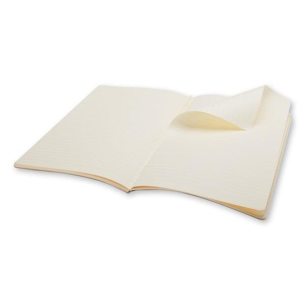 Extra veľký biely zápisník Moleskine Volant, linajkový