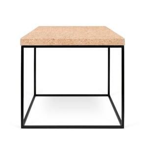 Čierny konferenčný stolík z doskou z korku TemaHome Harvest