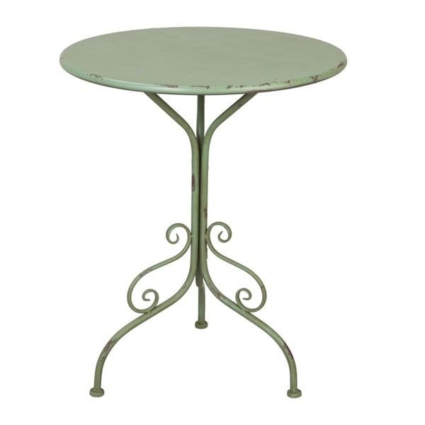 Kovový stolík Provence Table, 74x60 cm