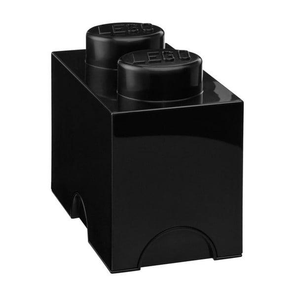 Čierny úložný dvojbox LEGO®