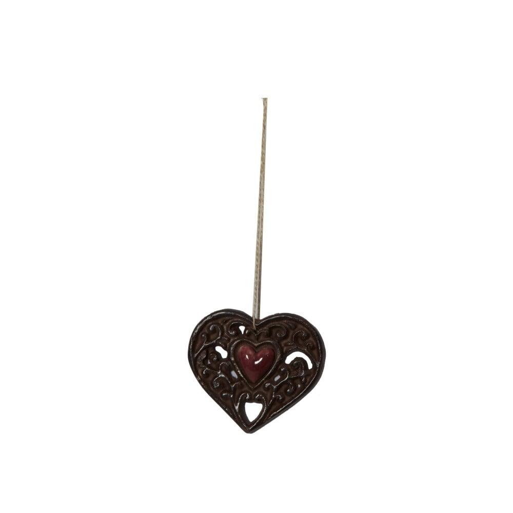 Závesná dekorácia v tvare srdca Antic Line Ceramic