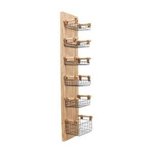 Nástenný panel so 6 odkladacími košíkmi Kare Design Basket