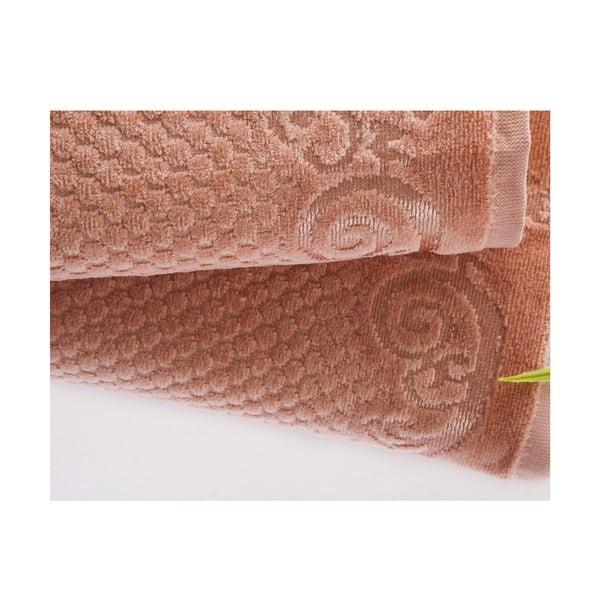 Sada uteráka a osušky Acustic Salmon, 50x90 cm a 70x140 cm
