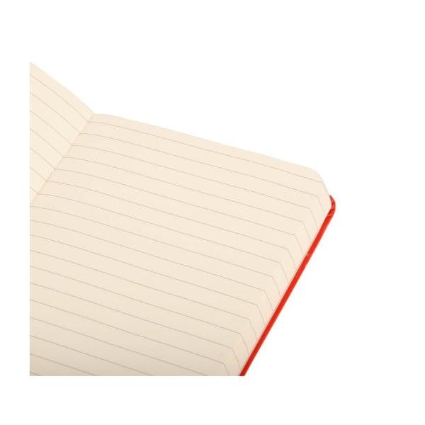 Zápisník Moleskine Daily Life Red Small, linajkový