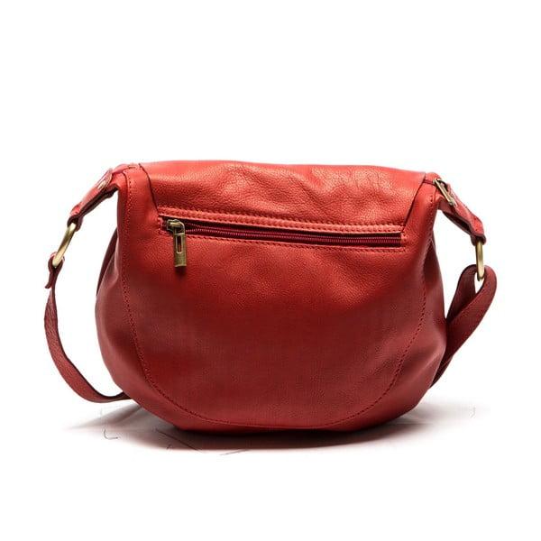 Kožená kabelka Desideria, rosso