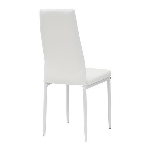 Jedálenská stolička Queen, biela/biela