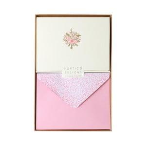 Sada 10 komplimentiek s obálkami Portico Designs FOIL Spring Bouquet