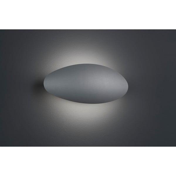 Svetlosivé vonkajšie nástenné svetlo Trio Missouri, výška 11,4 cm