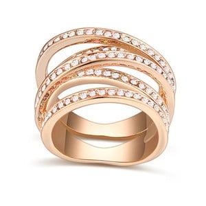 Pozlatený prsteň s krištáľmi Swarovski Natalia, veľkosť 52