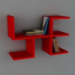 Polica Cool Book Red, 61,8x40x22 cm