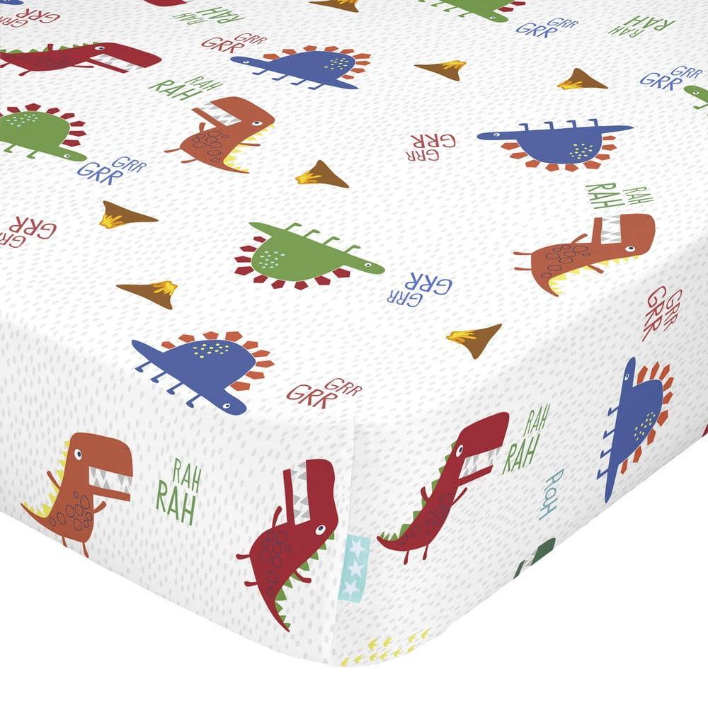Detská bavlnená plachta Moshi Moshi Funnysaurus, 60 x 120 cm