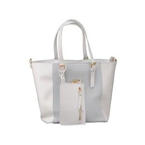 Kožená kabelka Gomeisa, biela