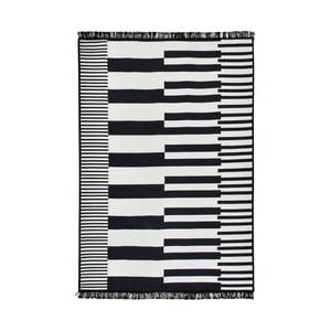 Čierno-biely obojstranný koberec Homedebleu Klotho, 80×150cm