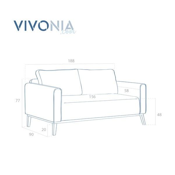 Svetlosivá pohovka pre troch Vivonita Milton