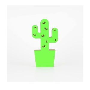 Zelená kartónová dekorácia v tvare kaktusu Dekorjinal Pouff Cactus, 25 x 13 cm