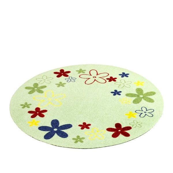 Detský zelený koberec Zala Living Flower, ⌀100cm