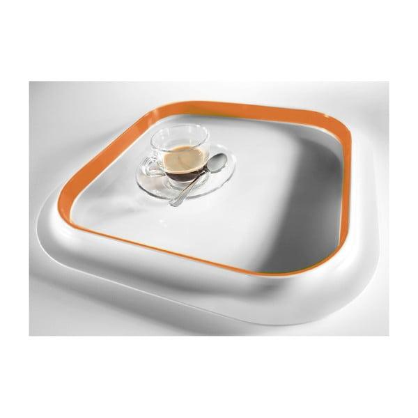 Oranžový podnos Entity, 36x36cm