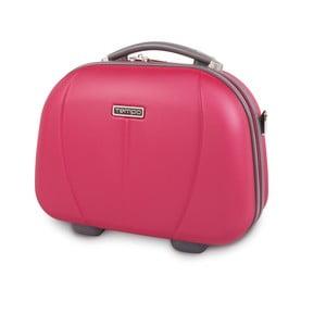 Kozmetická cestovná taška Tempo, jahodovo červená