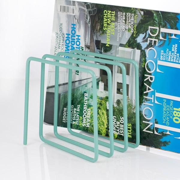Modrý stojan na časopisy Magazine Rack