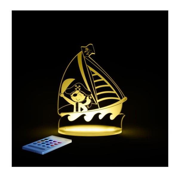 Detské LED nočné svetielko Aloka Pirate