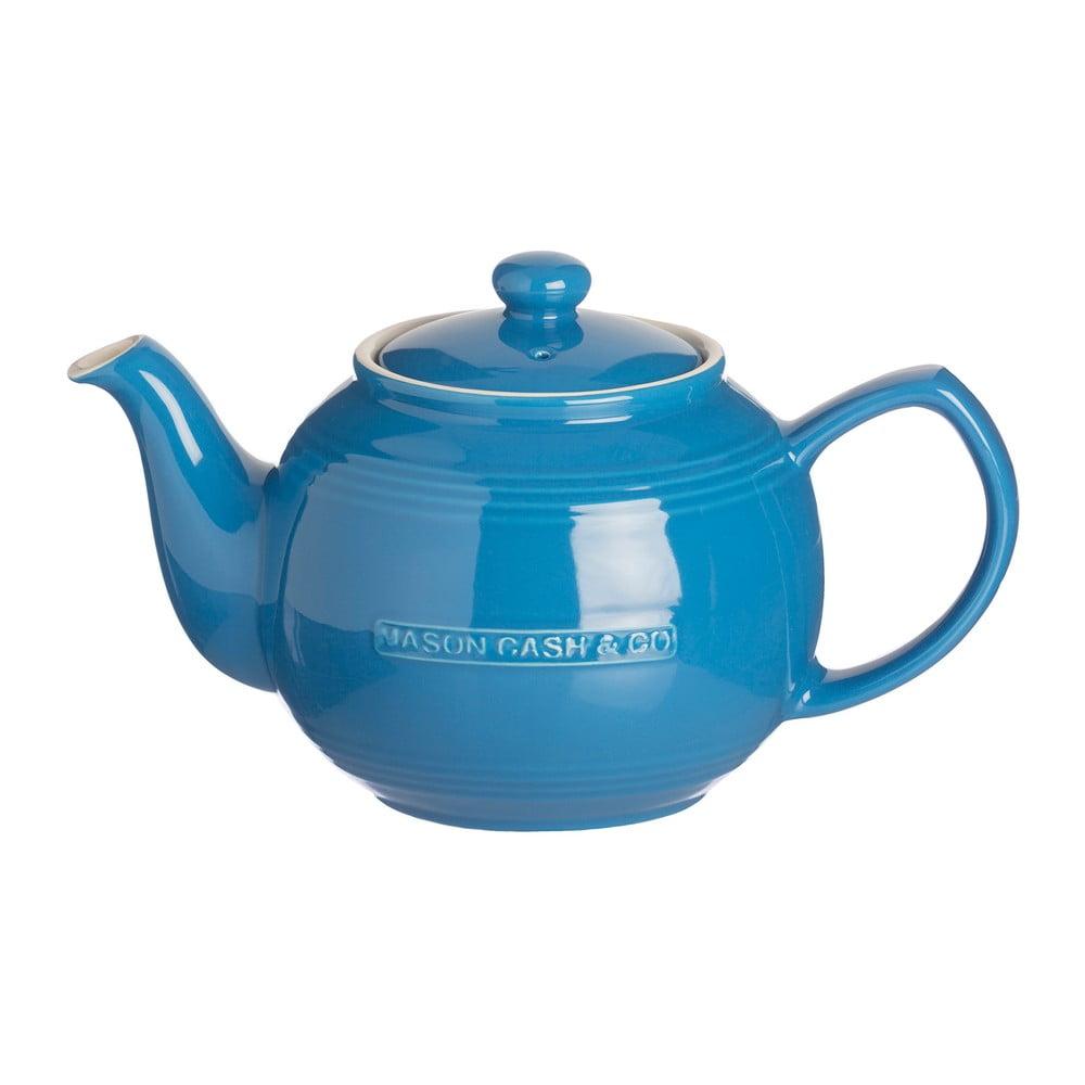 Modrá kameninová kanvica na čaj Mason Cash Original Collection, 1,2 l