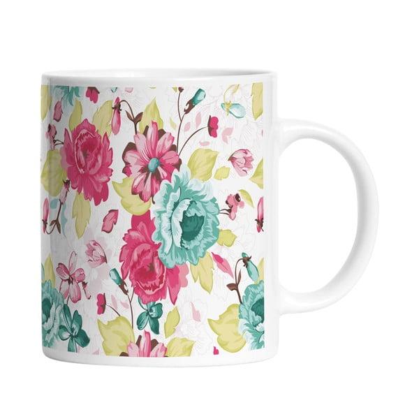 Keramický hrnček Floral Elegance, 330 ml