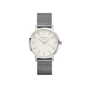 Strieborno-biele dámske hodinky Rosefield The Mercer