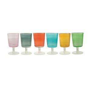 Sada 6 farebných pohárov Villa d'Este Malibu Calice