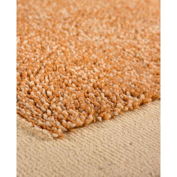 Vlnený koberec Dama no. 610, 120x160 cm, oranžový