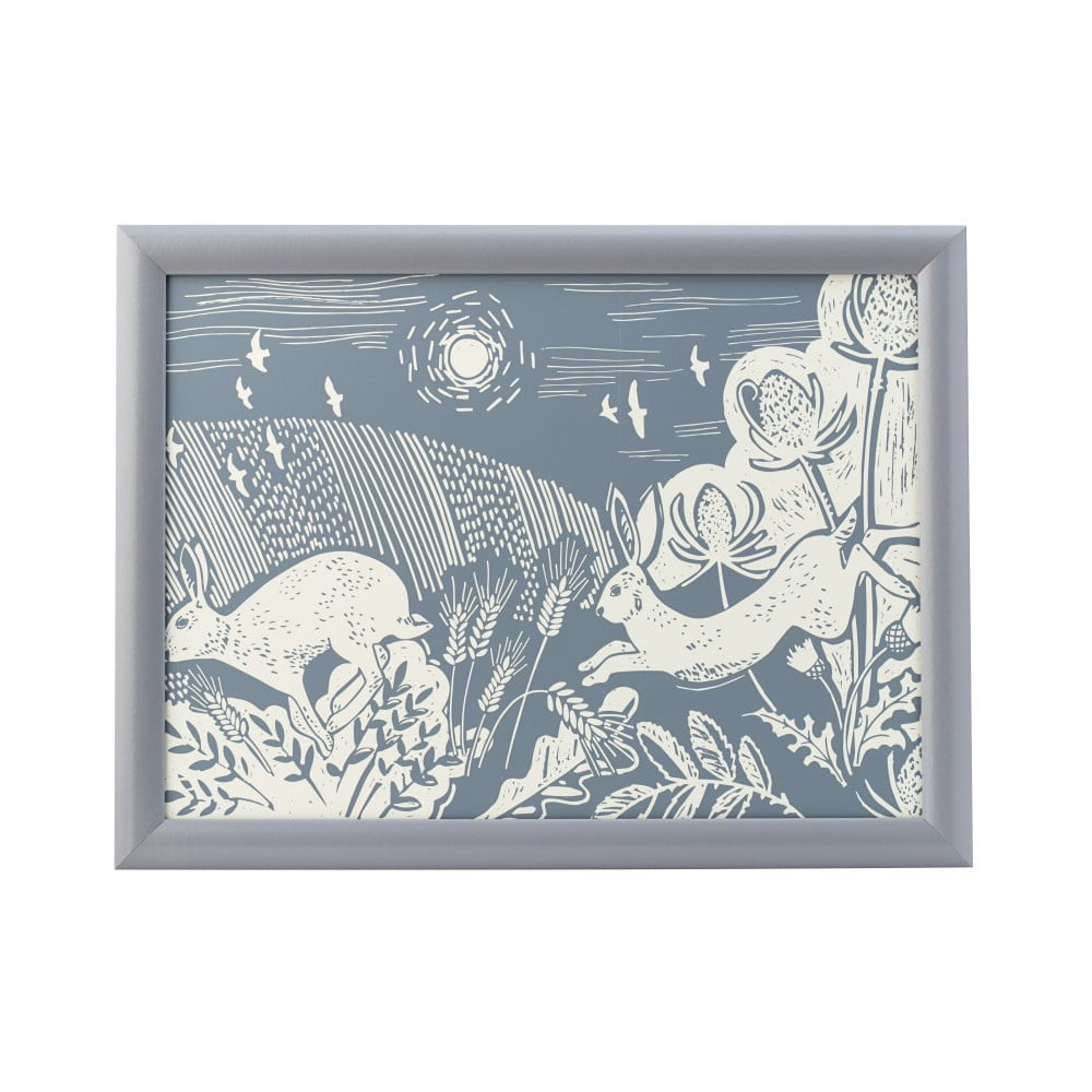 Modrý podnos David Mason Artisan, 43 x 32,5 cm