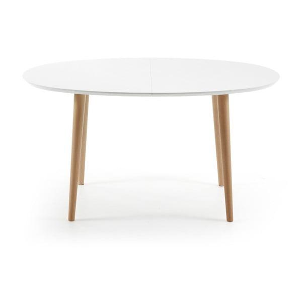 Biely rozkladací jedálenský stôl La Forma Oakland, 140-220 cm