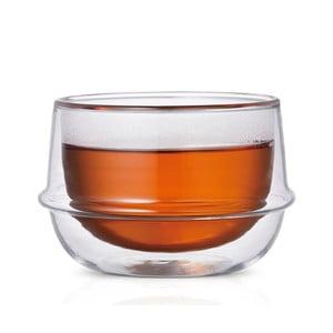 Čajový hrnček s dvojitým sklom Kinto Kronos