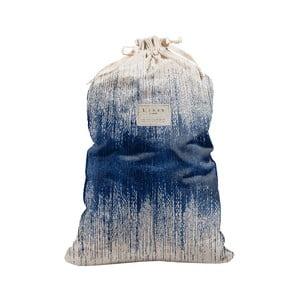 Látkový vak na prádlo Linen Bag Blue Hippy, výška 75 cm