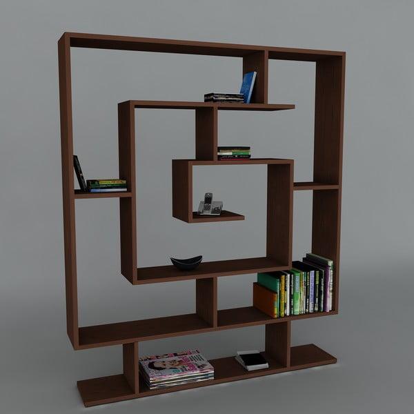 Knižnica Samasik Wenge, 22x124,8x149,4 cm