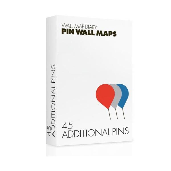 Náhradné pripináčiky na Pin World mapy, 45 ks