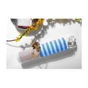 Hamam osuška Ellis Beige/Blue, 100x180 cm