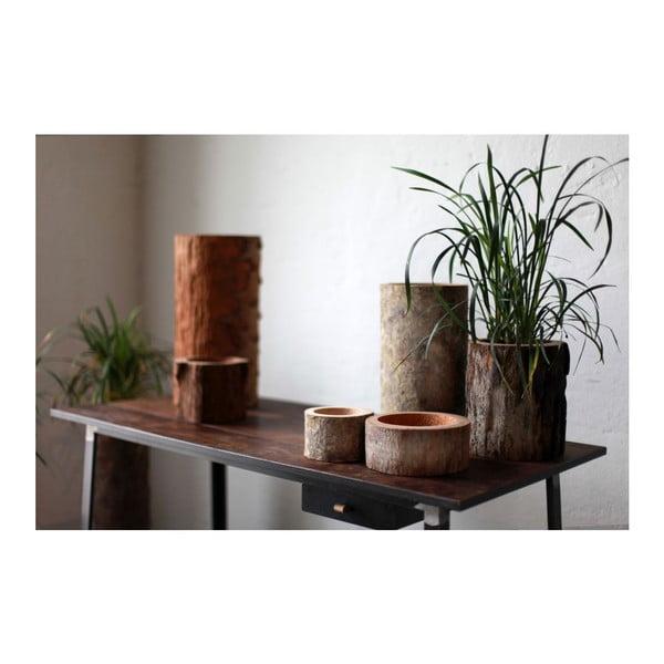 Palmová sviečka Legno Black Wood s vôňou medu, 80 hodín horenia