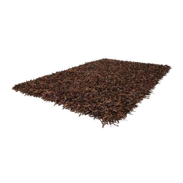 Kožený koberec Rodeo 80x150 cm, hnedý