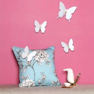 Sada 12 bielych 3D samolepiek Fanastick Fanastick Diamond Butterflies