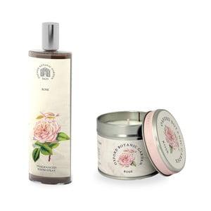 Set interierového vonného spreja a sviečky s vôňou ruže Bahoma London Fragranced