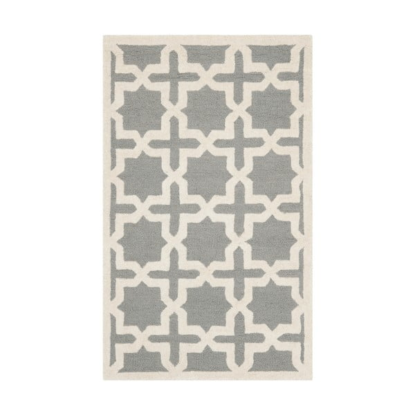 Vlnený koberec Marina 121x182 cm, sivý