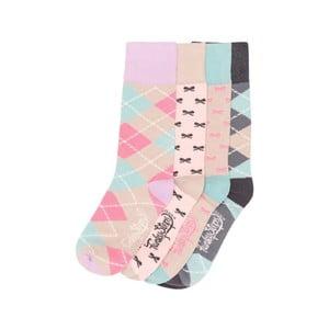 Sada 4 párov farebných ponožiek Funky Steps Choco, veľ. 35-39