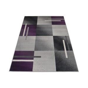 Fialovo-sivý  koberec Webtappeti Modern, 140 x 200 cm