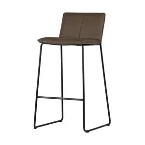 Sada 2 hnedých barových stoličiek WOOOD Evan